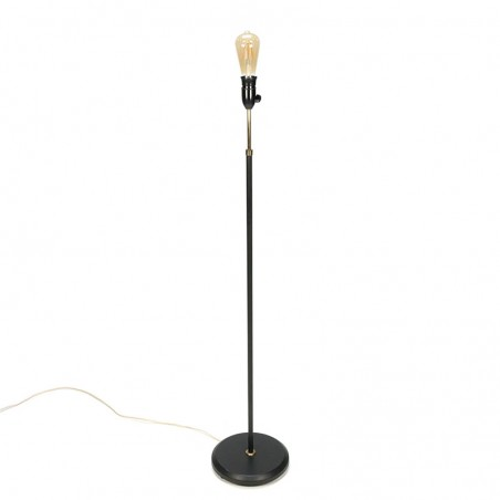 Minimalistic vintage floor lamp with brass detail