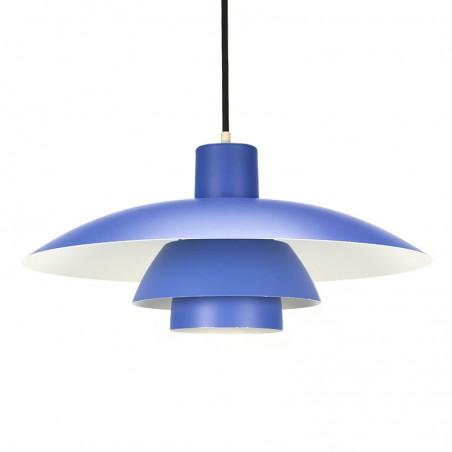 Blauwe vintage PH 4/3 lamp ontwerp Poul Henningsen