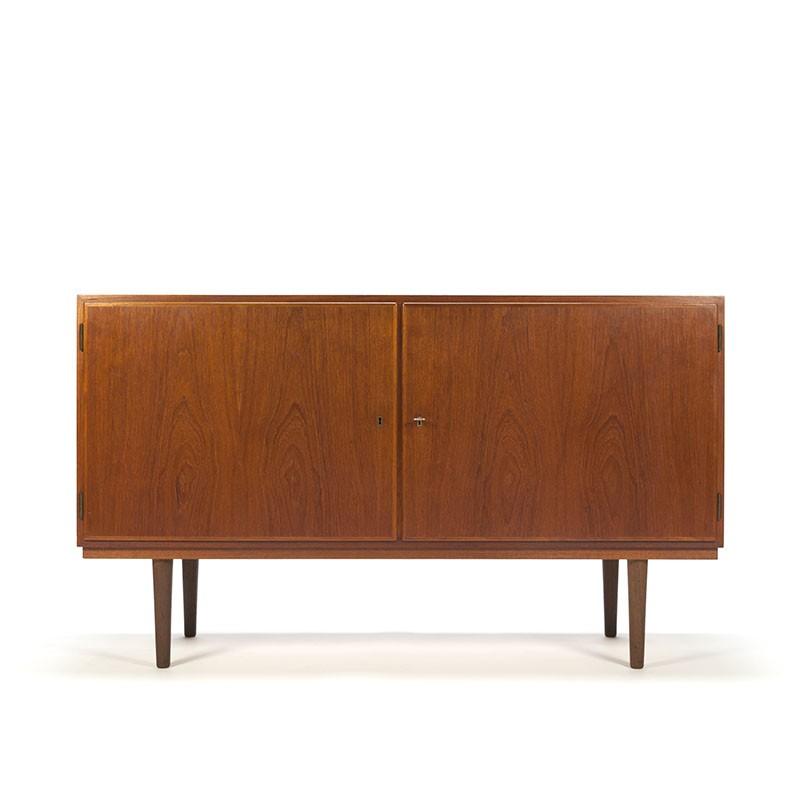 Teakhouten Deens vintage laag model dressoir