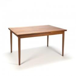 Vintage extendable Danish dining table in teak