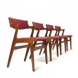 Danish vintage set of 4 Nova design chairs
