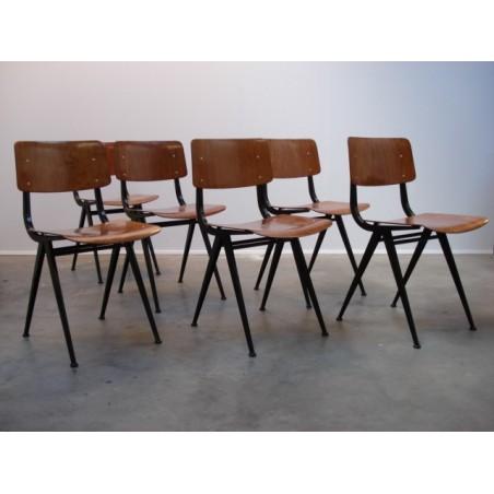Industriele stoelen (set van 6)