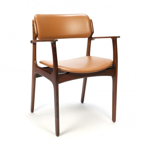 Vintage stoel ontwerp Erik Buck model 50 in palissanderhout
