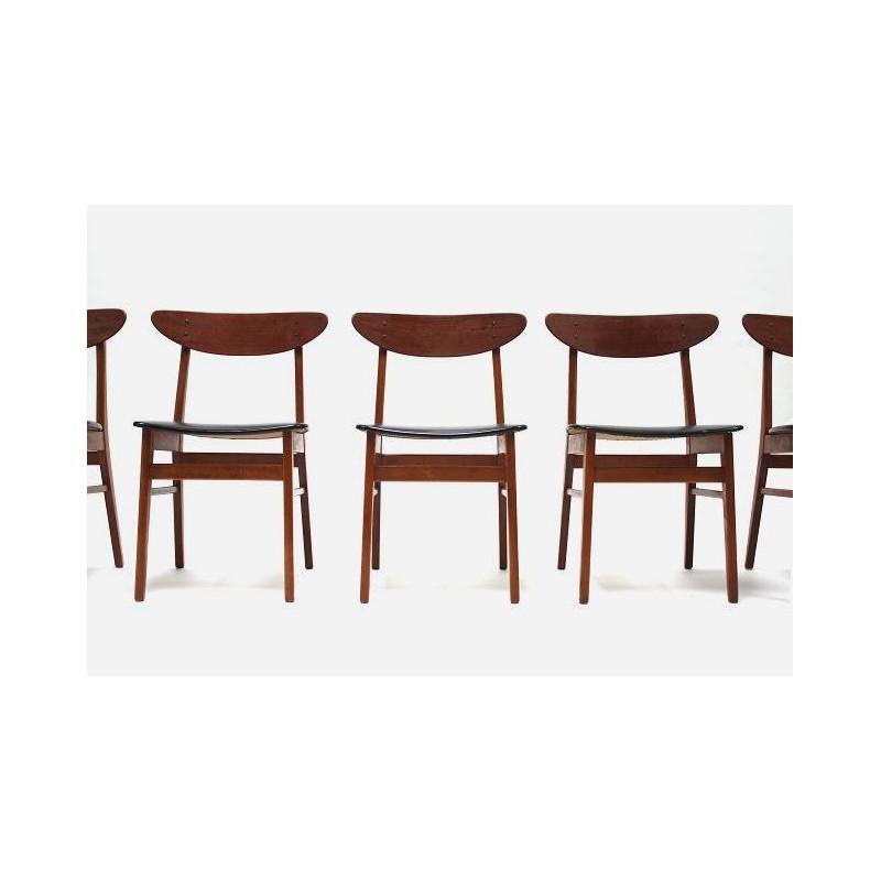 Set van 6 stoelen merk Farstrup
