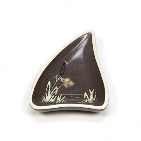 Miniatuur vintage schaaltje 'Riet' jaren zestig