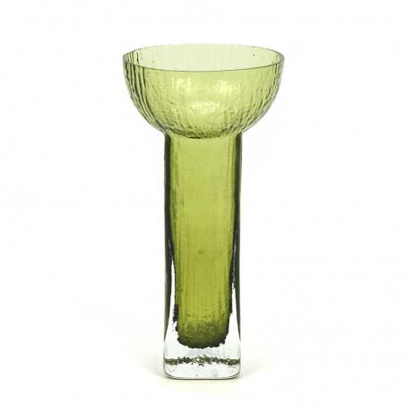 Groen glazen Scandinavische vintage vaas