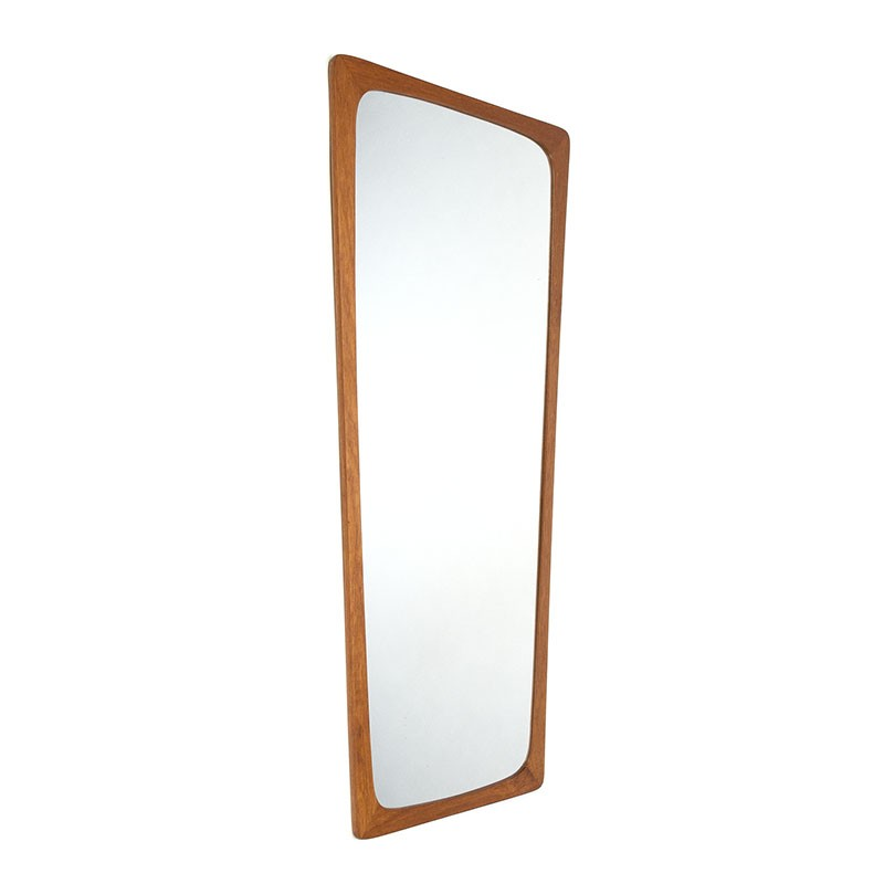 Large vintage Danish teak mirror