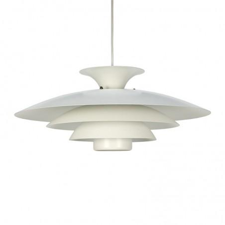 Scandinavische vintage wit metalen hanglamp
