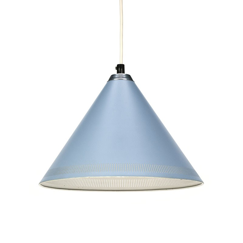 Lyfa vintage Danish design hanging lamp in blue