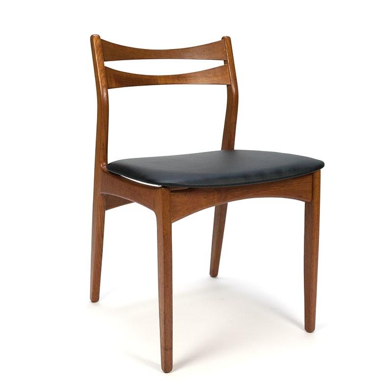 Vintage Deense eettafel stoel in teak