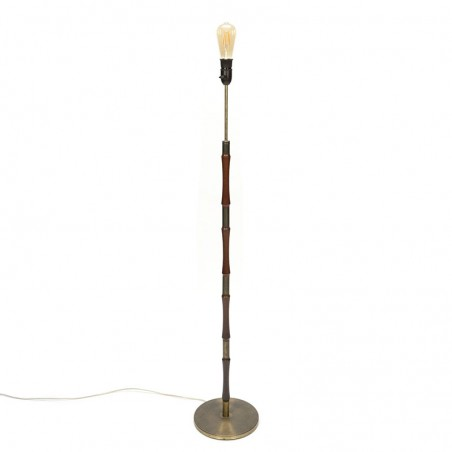 Danish vintage floor lamp with brass base