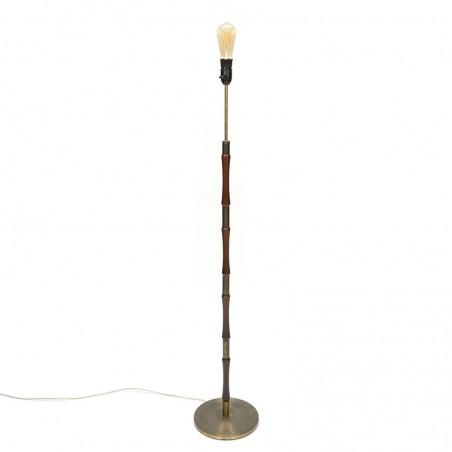 Deense vintage vloerlamp met messing voet