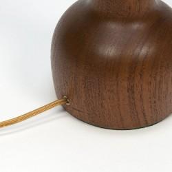 Vintage Deense tafellamp teakhouten voet