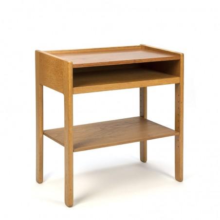 Danish vintage oak side table or small cabinet