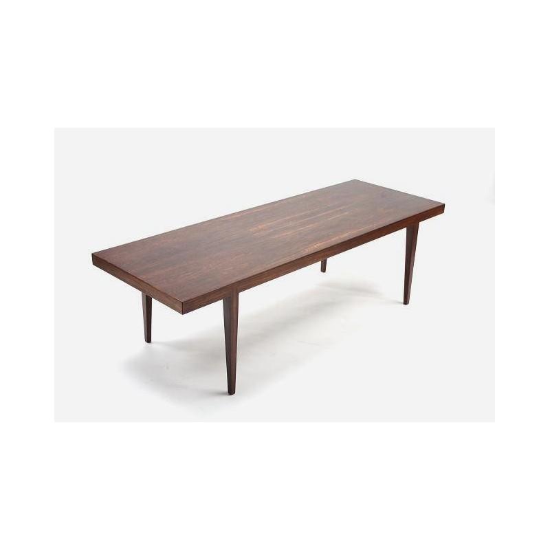 Palissander houten salontafel ontwerp Johannes Andersen