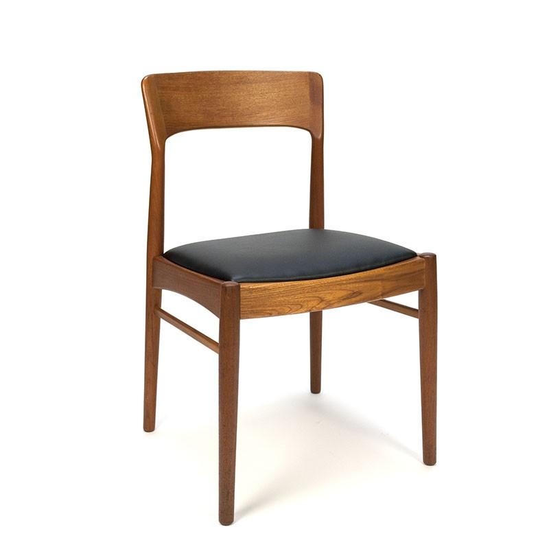 Vintage teakhouten design stoel Korup Stolefabrik