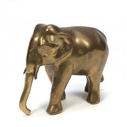 Vintage messing sculptuur van een olifant