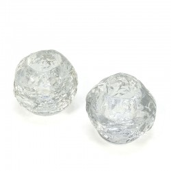 Set of 2 vintage Kosta Boda snowball candlesticks