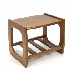 Small English vintage side table in teak