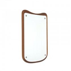 Danish vintage small mirror with organic detail