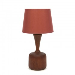 Danish teak vintage table lamp