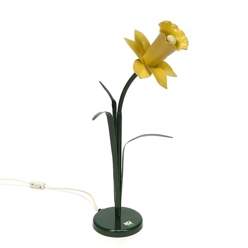 Vintage design narcis tafellamp ontwerp Peter Bliss
