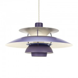 Lilac PH 5 vintage Louis Poulsen hanging lamp