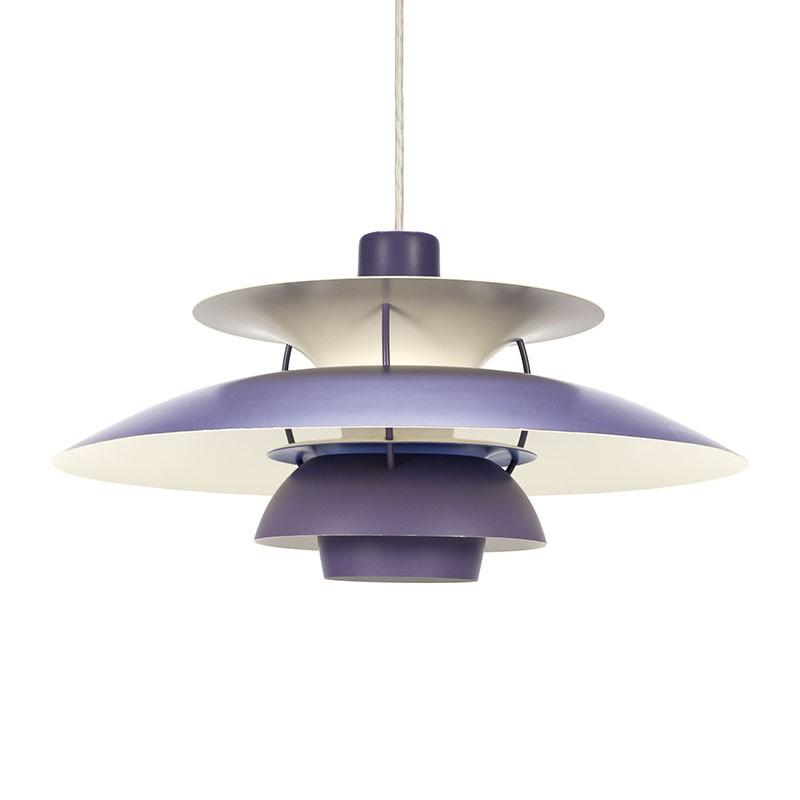 Lilac PH 5 vintage Louis Poulsen hanging lamp
