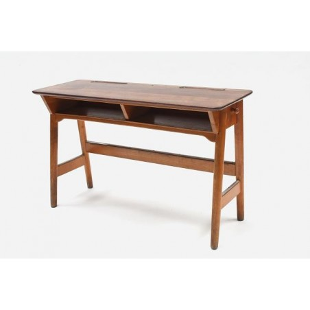 School desk in wood