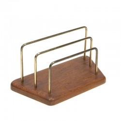Vintage Danish letter holder from teak