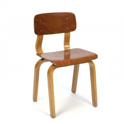 Plywood vintage child's chair from the sixties