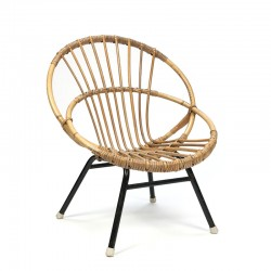 Vintage rattan child's chair from the fifties