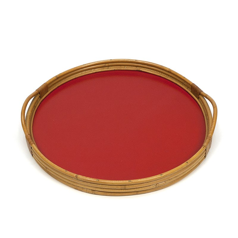 Vintage bamboo tray from the fifties