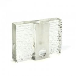 Glazen vintage solifleur van Walther design