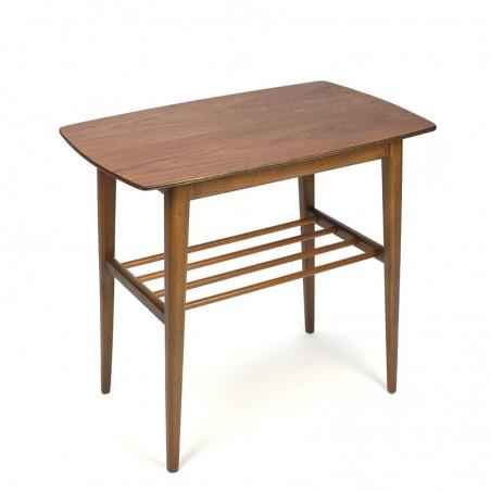 Vintage side table Danish with teak top