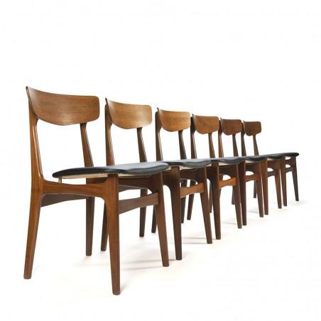 Set van 6 vintage Schønning en Elgaard stoelen