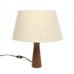 Vintage table lamp with teak base