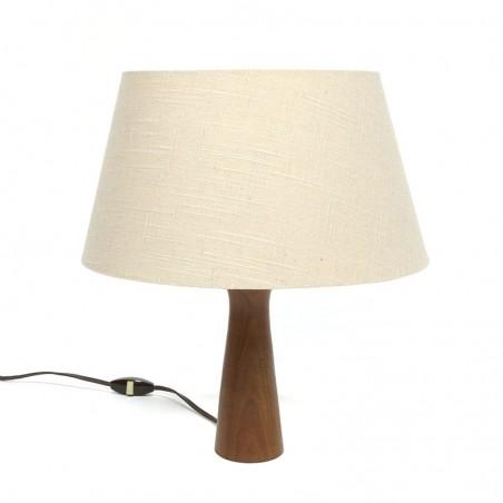 Vintage table lamp with teak base