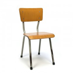 Industrial vintage children's school chair wood