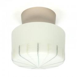 Glazen vintage vijftiger/ zestiger jaren plafondlamp