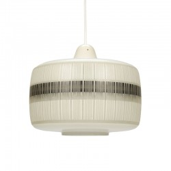 Glazen vijftiger jaren vintage Philips hanglamp
