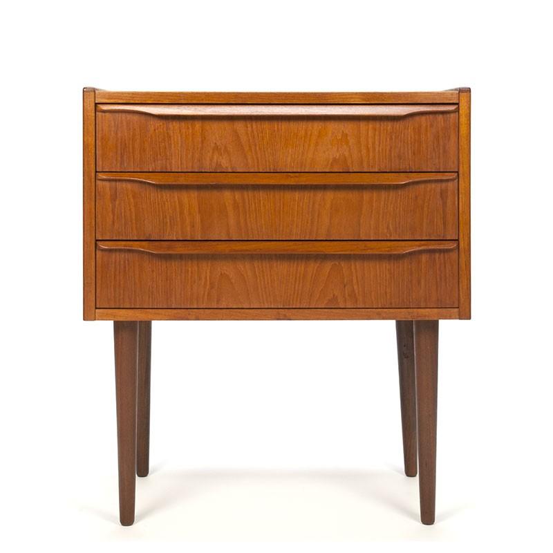 Vintage Teak Bedside Table Or Hallway Furniture Danish