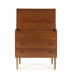 Vintage secretaire meubel ontwerp Poul Volther