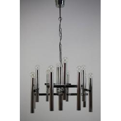 Grote chromen hanglamp