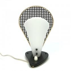 Vijftiger jaren tafellampje vintage met geperforeerd detail