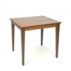 Small vintage model side table made of teak