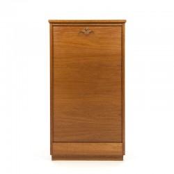 Fifties teak Danish filing cabinet narrow model