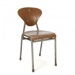 Danish vintage school chair from the fifties