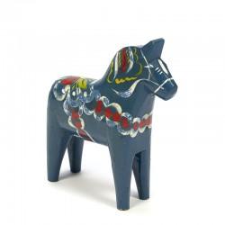 Vintage blue Dala horse design Nils Olsson
