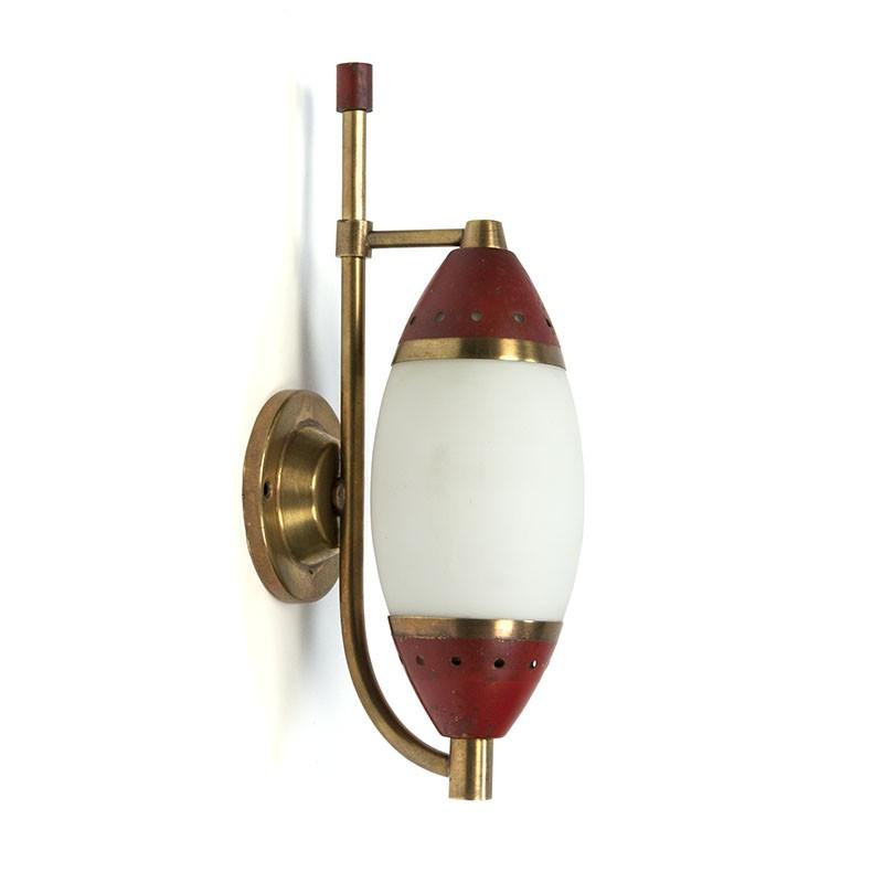 Vintage fifties Stilnovo wall lamp